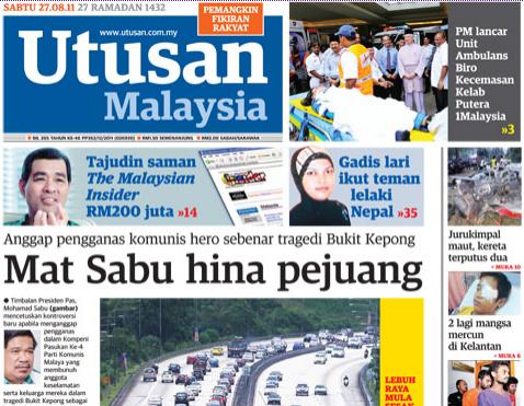 Image result for Mat Sabu: Chin Peng Pejuang Kemerdekaan
