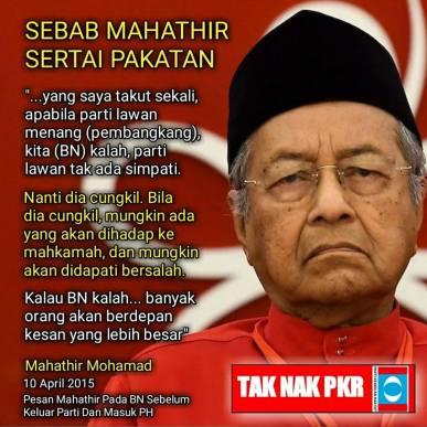 Image result for mahathir takut jika DAP memang