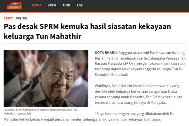 Image result for PAS GESA SPRM SIASAT KEKAYAAN MAHATHIR